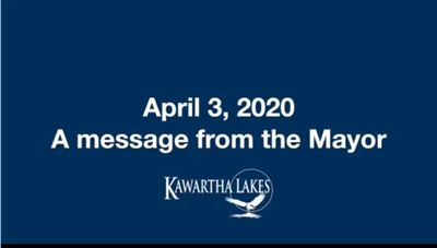 April 3: Message from the Mayor