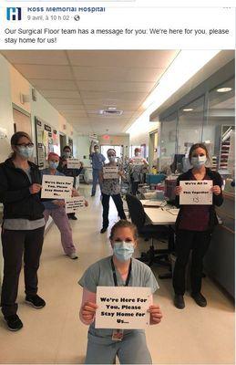 April 9: Surgical Floor team, Ross Memorial Hospital