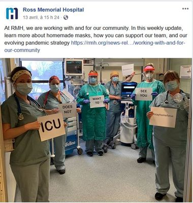 April 13: Message from Ross Memorial's ICU team