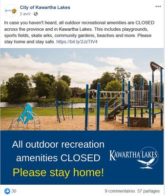 April 2: All outdoor City amenities closed