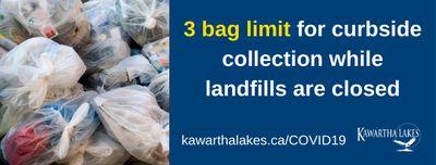 April 3: Garbage bag limit increased to 3 bags per week