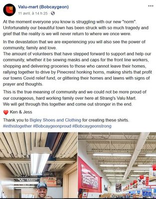 April 11: A message of hope from Valu-Mart (Bobcaygeoon)