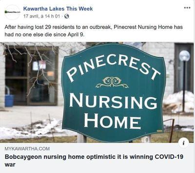 April 17: Pinecrest home optimistic it is winning COVID-19 war