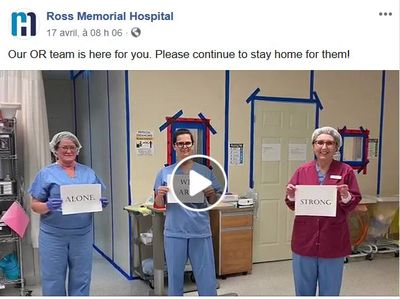 April 17: Ross Memorial's OR team share a message