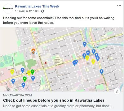 April 18: Check out lineups before you shop in Kawartha Lakes