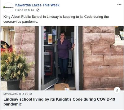 April 22: Lindsay school living by its Knight's Code during COVID-19 pandemic