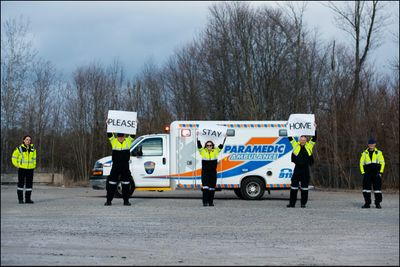 April 22: Paramedics thank the community for their support