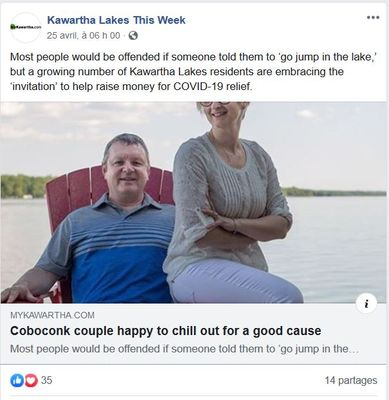 April 24: Coboconk couple happy to chill out for a good cause