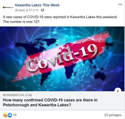 April 26: Nine new cases reported in Kawartha Lakes
