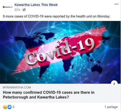 April 27: Nine new cases reported in Kawartha Lakes