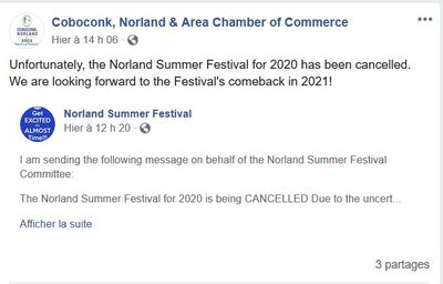 April 27: Norland Summer Festival cancelled