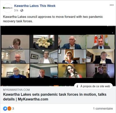 April 29: Kawartha Lakes sets pandemic task forces in motion, talks details