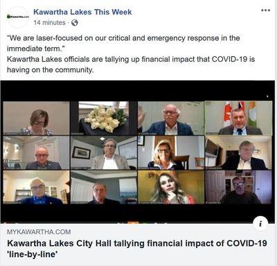 April 29: Kawartha Lakes City Hall tallying financial impact of COVID-19 'line-by-line'