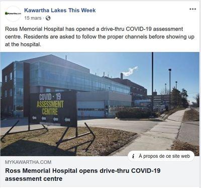 March 15: Ross Memorial Hospital opens drive-thru COVID-19 assessment centre