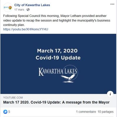 March 17: Message from the Mayor