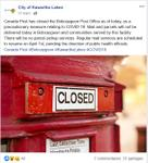 March 31: Canada Post closes Bobcaygeon Post Office
