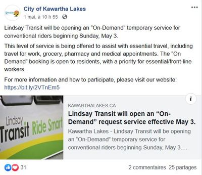 """May 1: Lindsay Transit will open an """"On-Demand"""" request service effective May 3"""