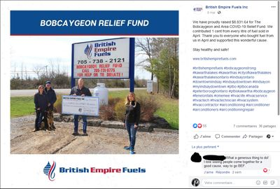 May 8: British Empire Fuels raises money for Bobcaygeon Relief Fund