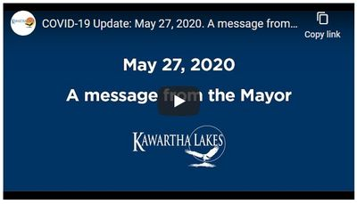 May 27: Message from the Mayor