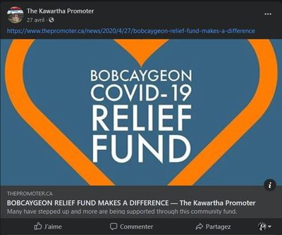 April 27: Bobcaygeon Relief Fund Makes a Difference
