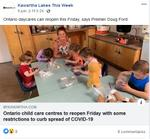 June 9: Ontario child care centres to reopen Friday with some restrictions to curb the spread of COVID-19
