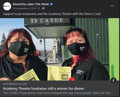 November 10: Academy Theatre fundraiser still a winner for diner
