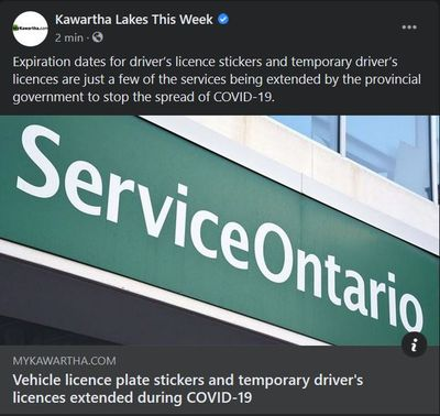 November 16: Vehicle licence plate stickers and temporary driver's licences extended during COVID-19