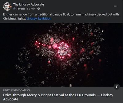 November 18: Drive-through Merry & Bright Festival at the LEx grounds