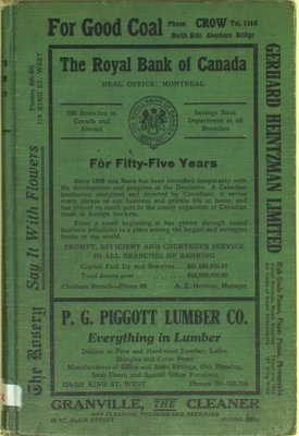 Vernon's city of Chatham street, alphabetical, business and miscellaneous directory for the year 1924
