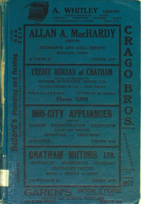 Vernon's city of Chatham (Ontario) miscellaneous, business, alphabetical and street directory for the year 1954