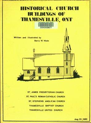 Historical church buildings of Thamesville, Ontario