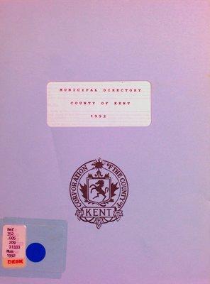 Municipal directory : County of Kent 1992