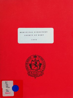 Municipal directory : County of Kent 1994