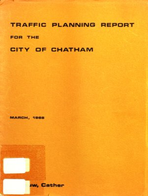 Traffic planning and parking report for the city of Chatham, 1968
