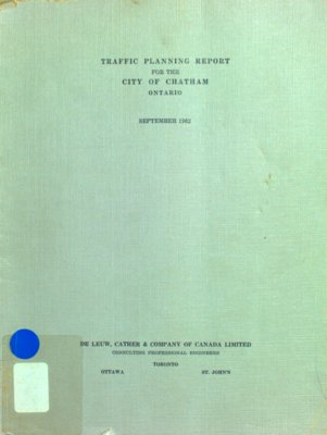 Traffic planning and parking report for the city of Chatham, 1962
