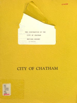 The Corporation of the City of Chatham revised budget 1984