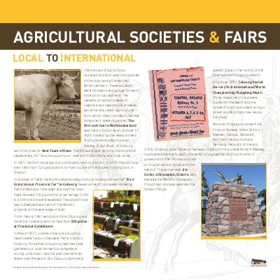 Agricultural Societies and Fairs