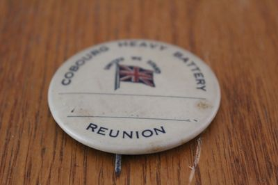 Cobourg Heavy Battery Reunion Pin