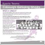 Cobourg's Galloping Ghosts
