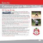 Cobourg Legion Minor Softball