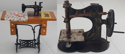 Miniature Toy Sewing Machines