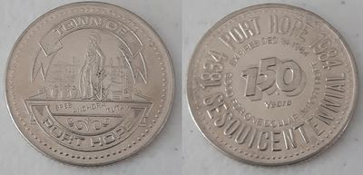 Silver Coloured Commemorative Coin -Port Hope