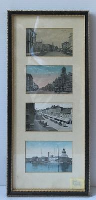Four pictures of Cobourg- framed