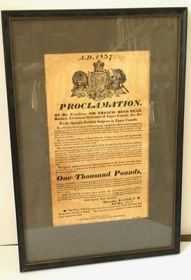 1837 Proclamation by Governor Francis Bond Head