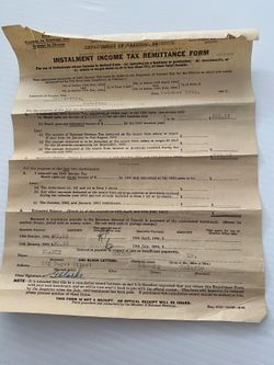Income Tax Remittance Form