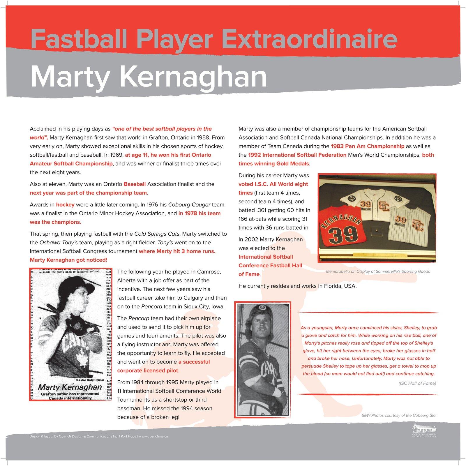 Marty Kernaghan - Multi talented athlete