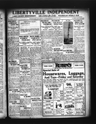 Libertyville Independent (Libertyville, Lake County, Ill.: W.J. Smith), 2 Aug 1923