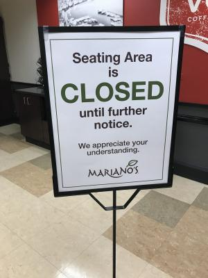 Mariano's seating area closed