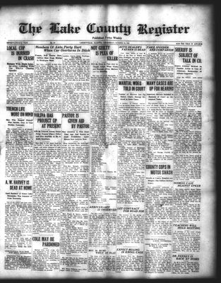 Lake County Register (1922), 22 Oct 1924
