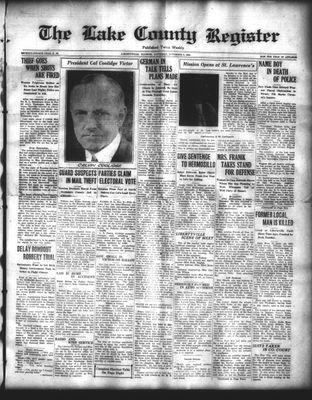 Lake County Register (1922), 8 Nov 1924